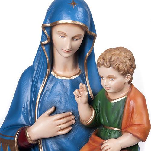 Statue Vierge de la consolation marbre reconstitué 80cm peinte 2