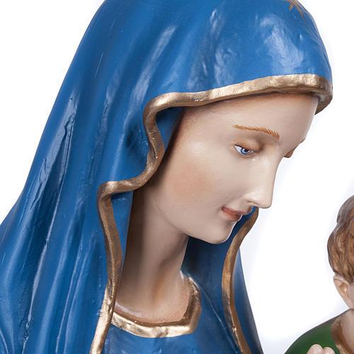 Statue Vierge de la consolation marbre reconstitué 80cm peinte 5
