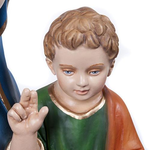 Statue Vierge de la consolation marbre reconstitué 80cm peinte 6