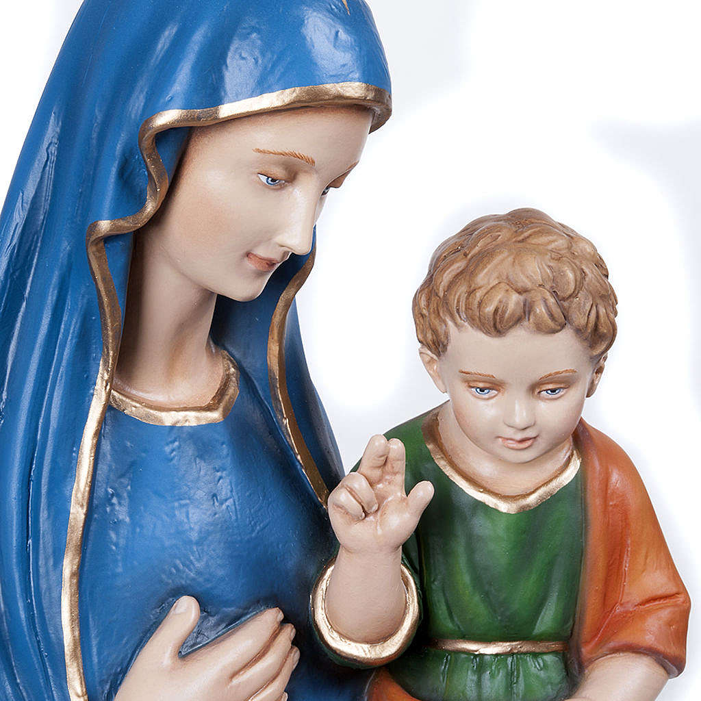 Virgin of the Consolation statue, 80 cm in painted marble dust 4