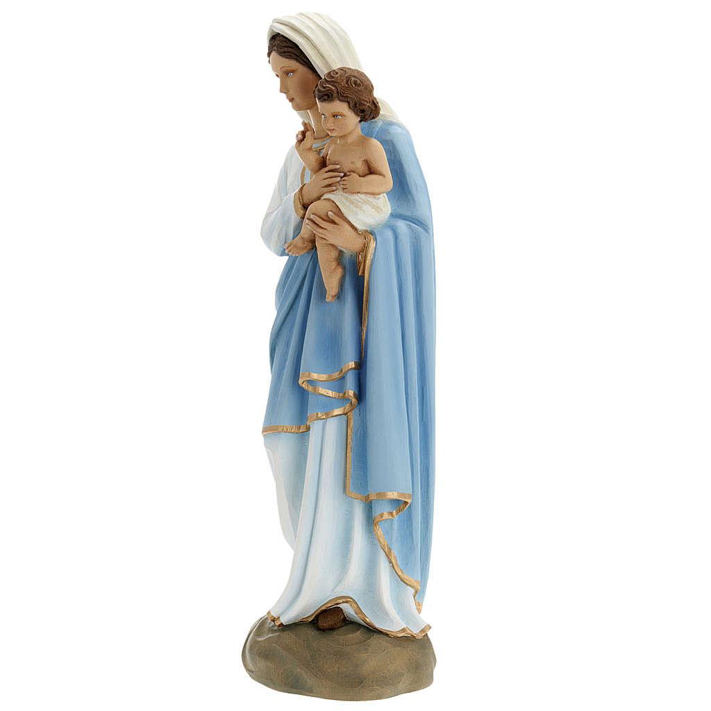 Madonna con Bambino 60 cm marmo ricostituito colorato 4