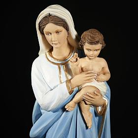 Madonna con Bambino 60 cm marmo ricostituito colorato s8