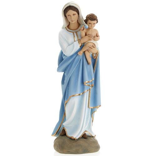 Madonna con Bambino 60 cm marmo ricostituito colorato 1