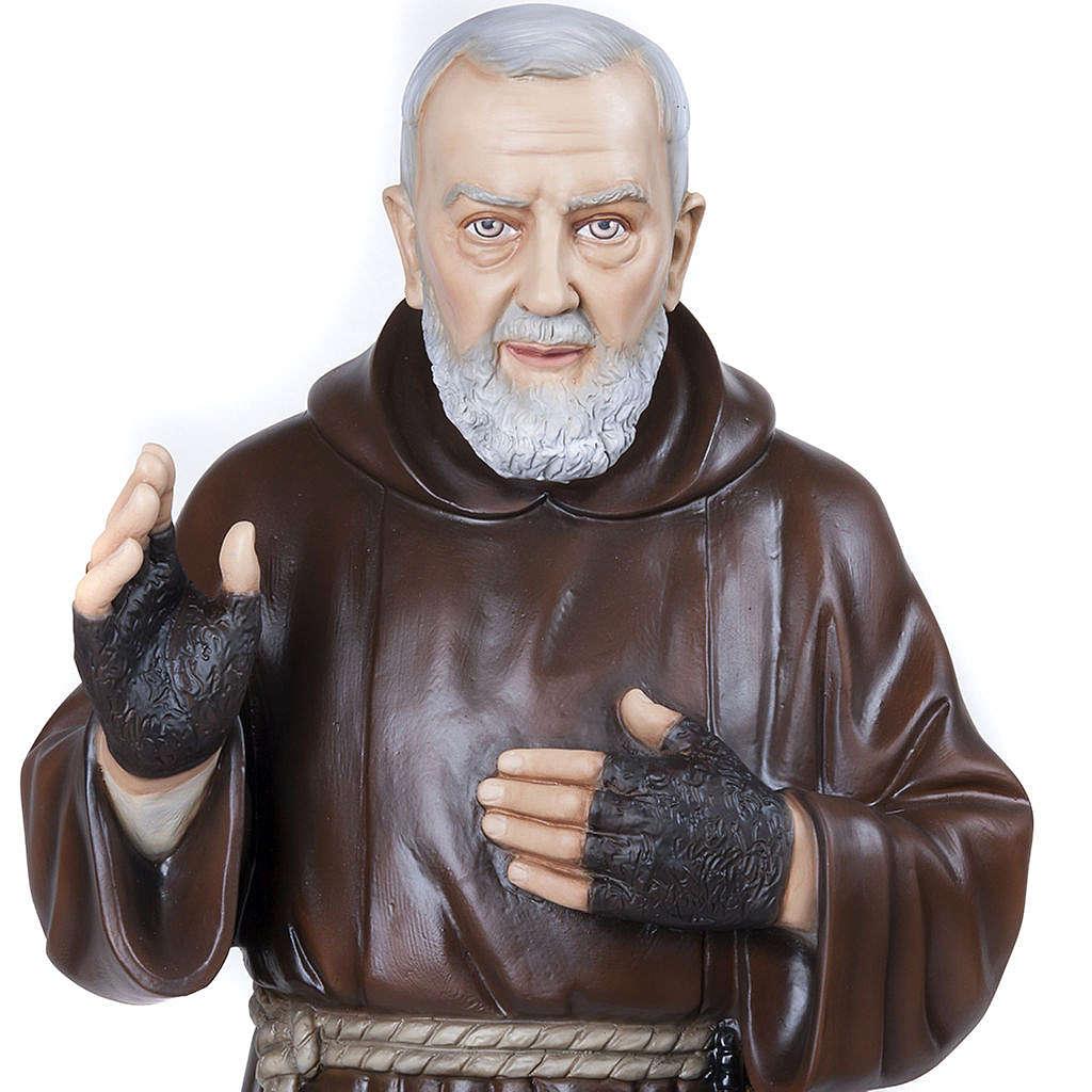 Père Pio marbre reconstitué 110cm peint 4
