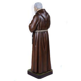 Père Pio marbre reconstitué 110cm peint s9