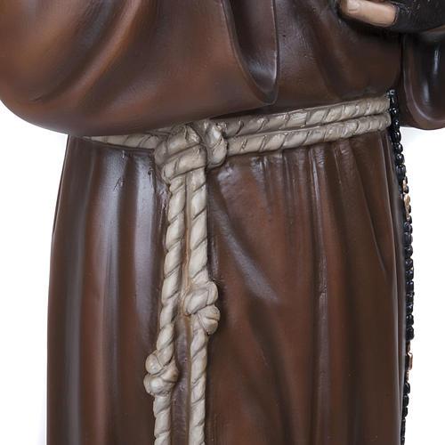 Père Pio marbre reconstitué 110cm peint 6