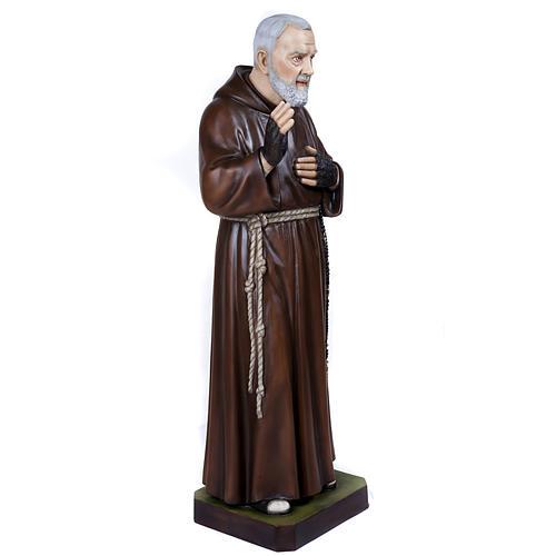 Père Pio marbre reconstitué 110cm peint 7