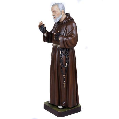 Père Pio marbre reconstitué 110cm peint 8