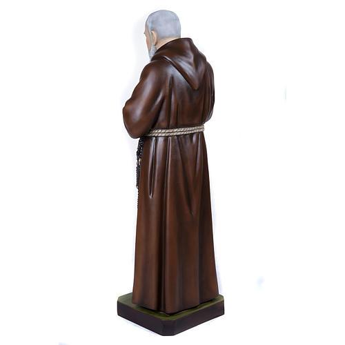 Père Pio marbre reconstitué 110cm peint 9