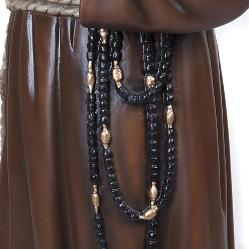 Padre Pio 110 cm marmo ricostituito dipinto 4
