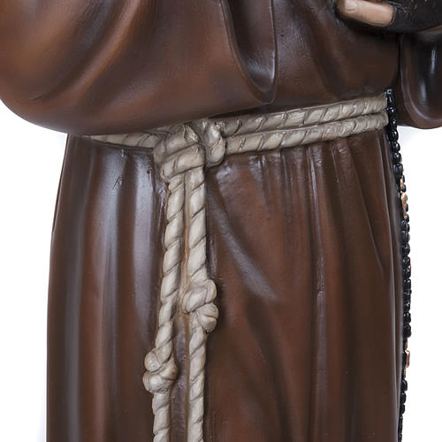 Padre Pio 110 cm marmo ricostituito dipinto 6