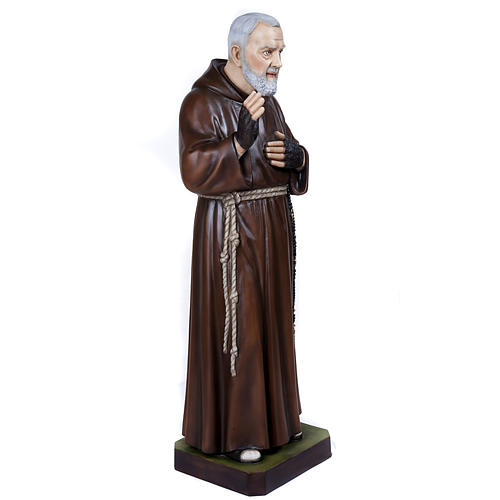 Padre Pio of Petralcina statue, 110 cm in painted marble dust 7
