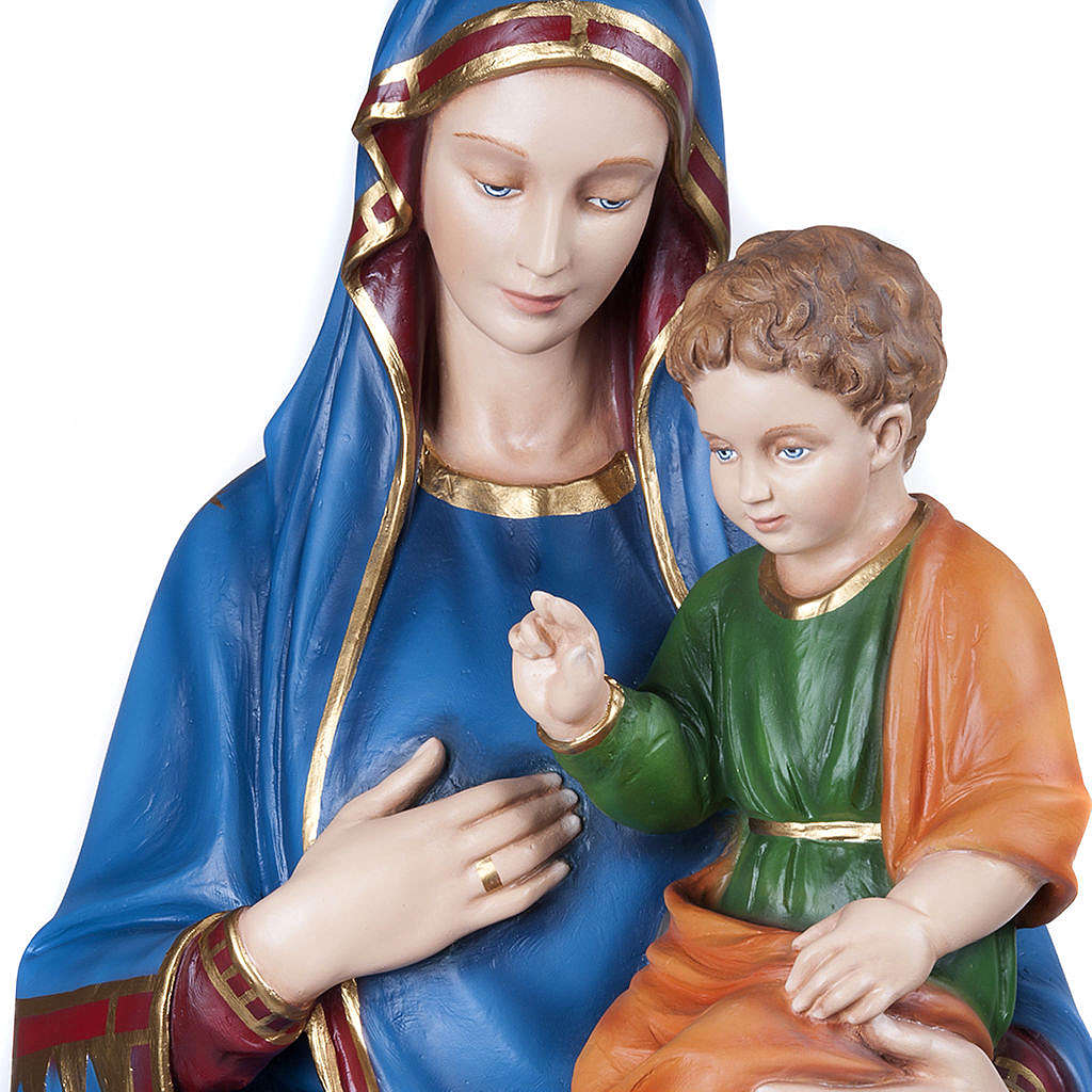 Virgin of the consolation statue, 130 cm in painted reconstitute 4