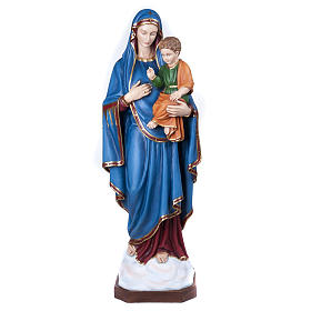 Statue Vierge de la consolation marbre 130cm peinte s1