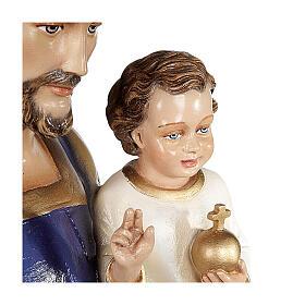 San Giuseppe con Bambino 80 cm marmo sintetico dipinto s4