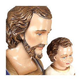 San Giuseppe con Bambino 80 cm marmo sintetico dipinto s5
