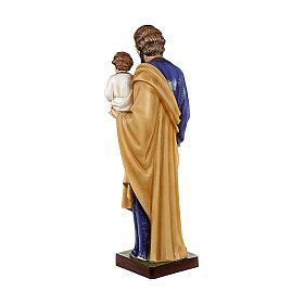 San Giuseppe con Bambino 80 cm marmo sintetico dipinto s7
