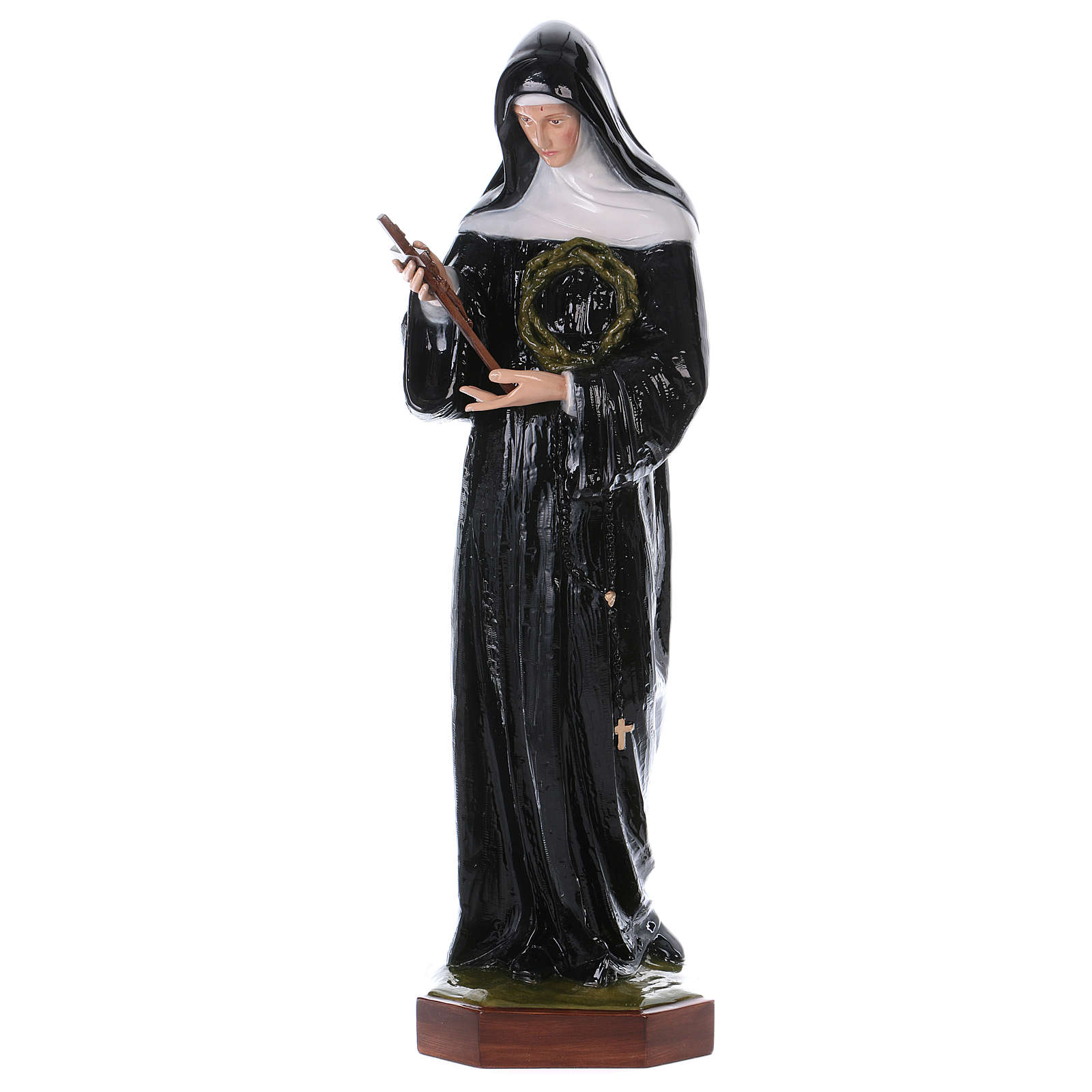 Saint Rita of Cascia statue, 100cm in painted composite marble 4