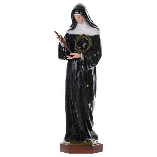Saint Rita of Cascia statue, 100cm in painted composite marble 1