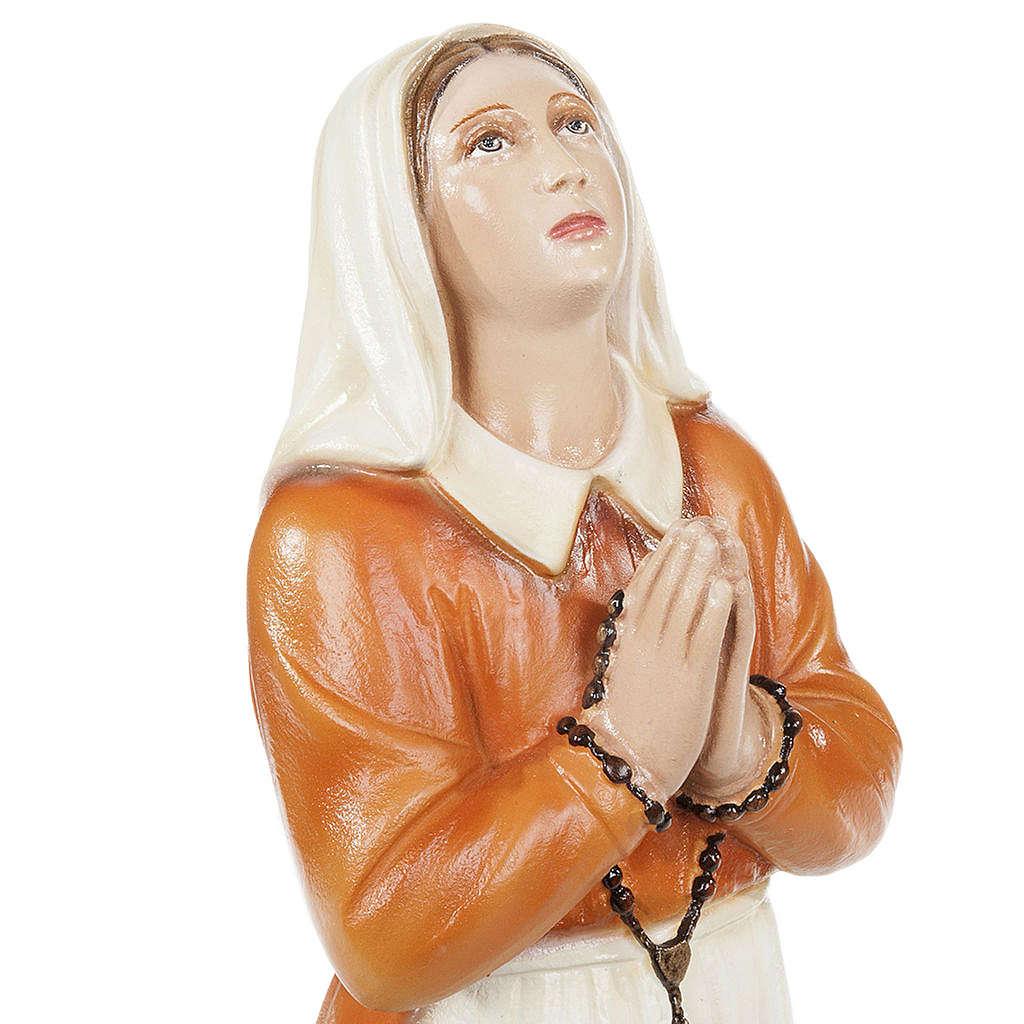 Santa Bernadette 35 cm marmo sintetico dipinto 4