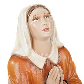 Santa Bernadette 35 cm marmo sintetico dipinto s4
