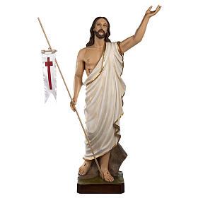 Cristo Risorto 85 cm polvere di marmo dipinto s1