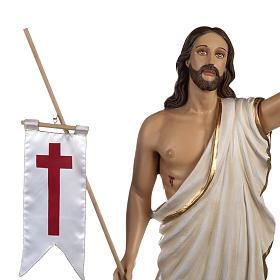 Cristo Risorto 85 cm polvere di marmo dipinto s3