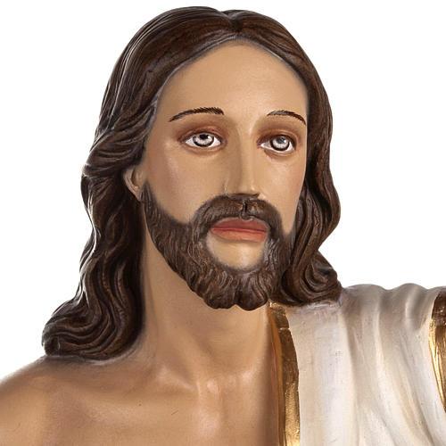 Cristo Risorto 85 cm polvere di marmo dipinto 2