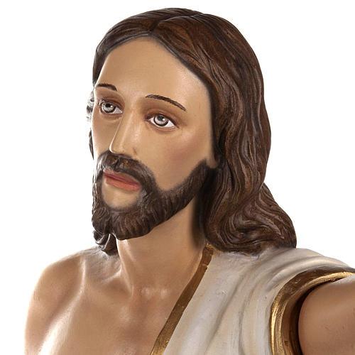 Cristo Risorto 85 cm polvere di marmo dipinto 5