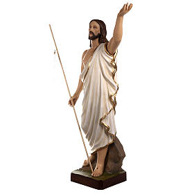 Resurrected Christ statue, 85cm in painted reconstituted marble s4