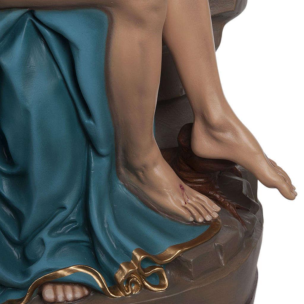Michelangelo's Pietà statue, 100cm in painted reconstituted marb 4