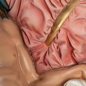 Michelangelo's Pietà statue, 100cm in painted reconstituted marb s5