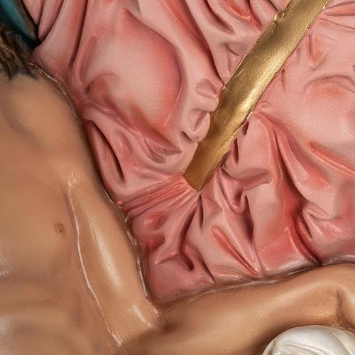 Michelangelo's Pietà statue, 100cm in painted reconstituted marb 5