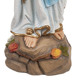 Our Lady of Lourdes statue, 50cm in painted reconstituted marble s5