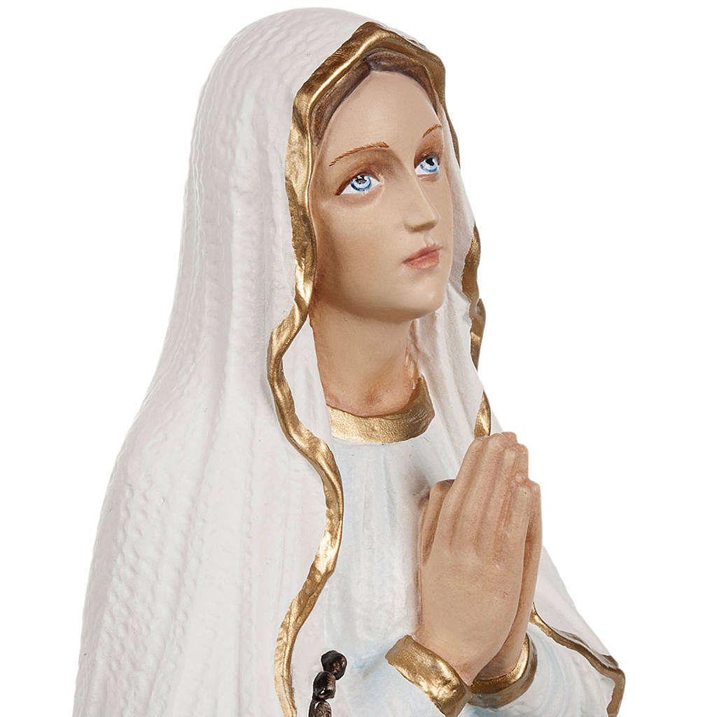 Imagen Virgen de Lourdes 50 cm polvo de mármol pintado 4