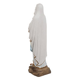 Our Lady of Lourdes statue, 50cm in painted reconstituted marble s7