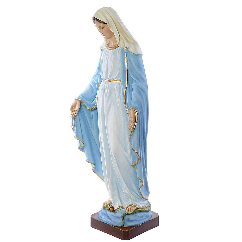 Statue Vierge immaculée marbre 130cm peinte 4