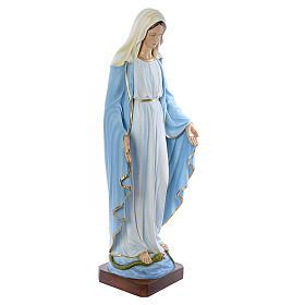 Statue Vierge immaculée marbre 130cm peinte s4