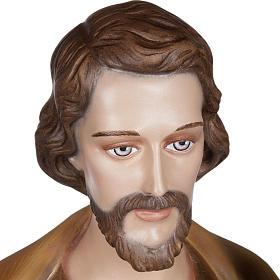 Saint Joseph with Baby Jesus statue, 100cm in painted reconstitu s4