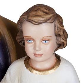 Saint Joseph with Baby Jesus statue, 100cm in painted reconstitu s6