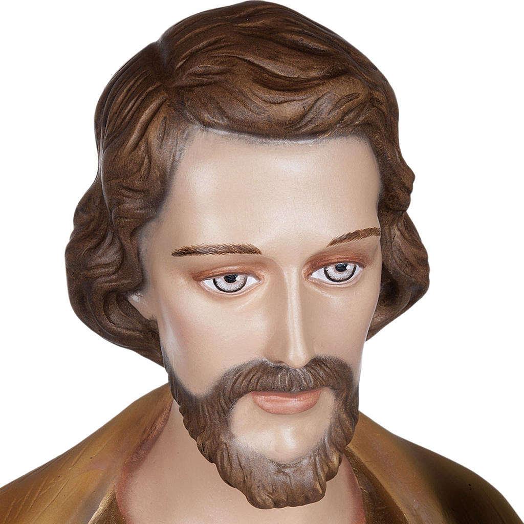 San Giuseppe con Bambino 100 cm marmo sintetico colorato 4