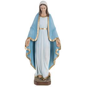 Estatua de la Virgen Milagrosa con capa azul 60 cm polvo de mármol pintado s1