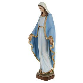 Statua Miracolosa manto celeste 60 cm polvere di marmo dipinta s5