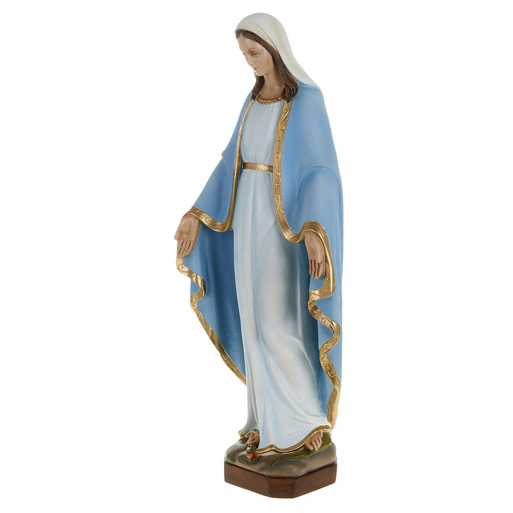 Miraculous Madonna statue, 60cm in painted reconstituted marble 4