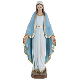 Miraculous Madonna statue, 60cm in painted reconstituted marble s1