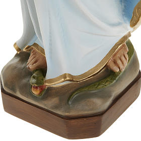 Miraculous Madonna statue, 60cm in painted reconstituted marble s6