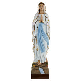 Statua Madonna Lourdes 70 cm polvere di marmo dipinta s1