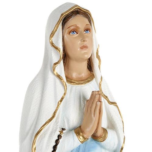 Statua Madonna Lourdes 70 cm polvere di marmo dipinta 2
