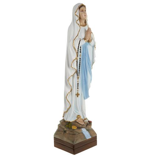 Statua Madonna Lourdes 70 cm polvere di marmo dipinta 5