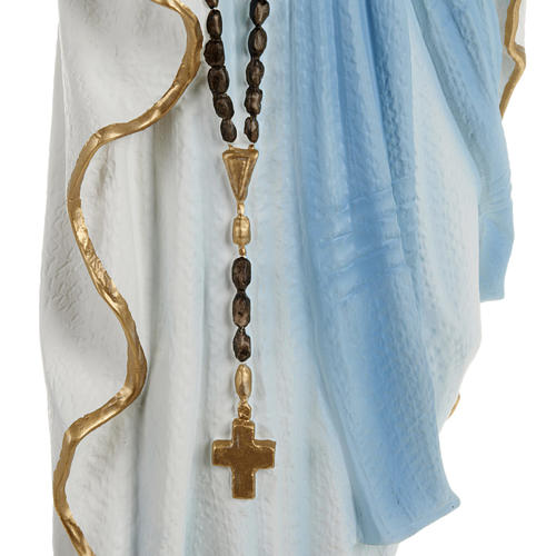 Our Lady of Lourdes statue, 70cm in painted reconstituted marble 3